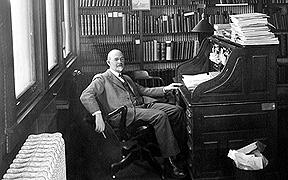 Joseph Grinnell at Desk
