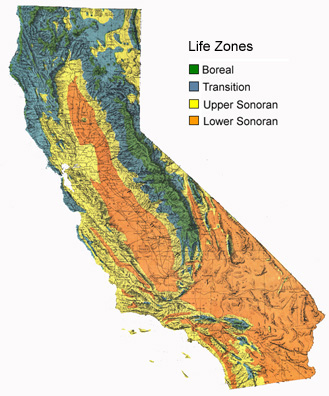 Life Zone Map